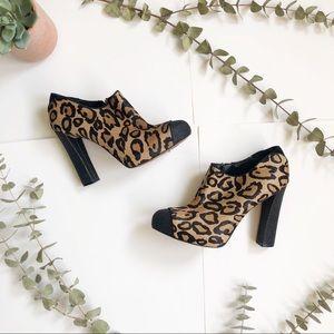 Sam Edelman Leopard Print Glitter Heel Booties✨